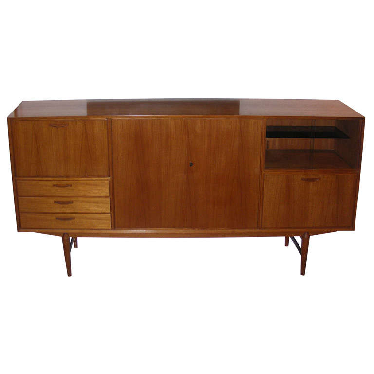 Buffet Cuisine 1950: Large End Of 1950s Danish Buffet And Dry Bar At 1stdibs