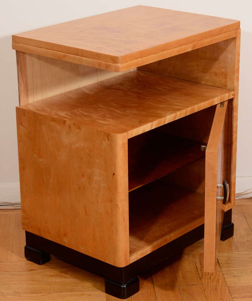 an art deco night stand for sale at 1stdibs