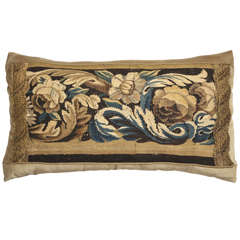 19th Century Tapestry Pillow