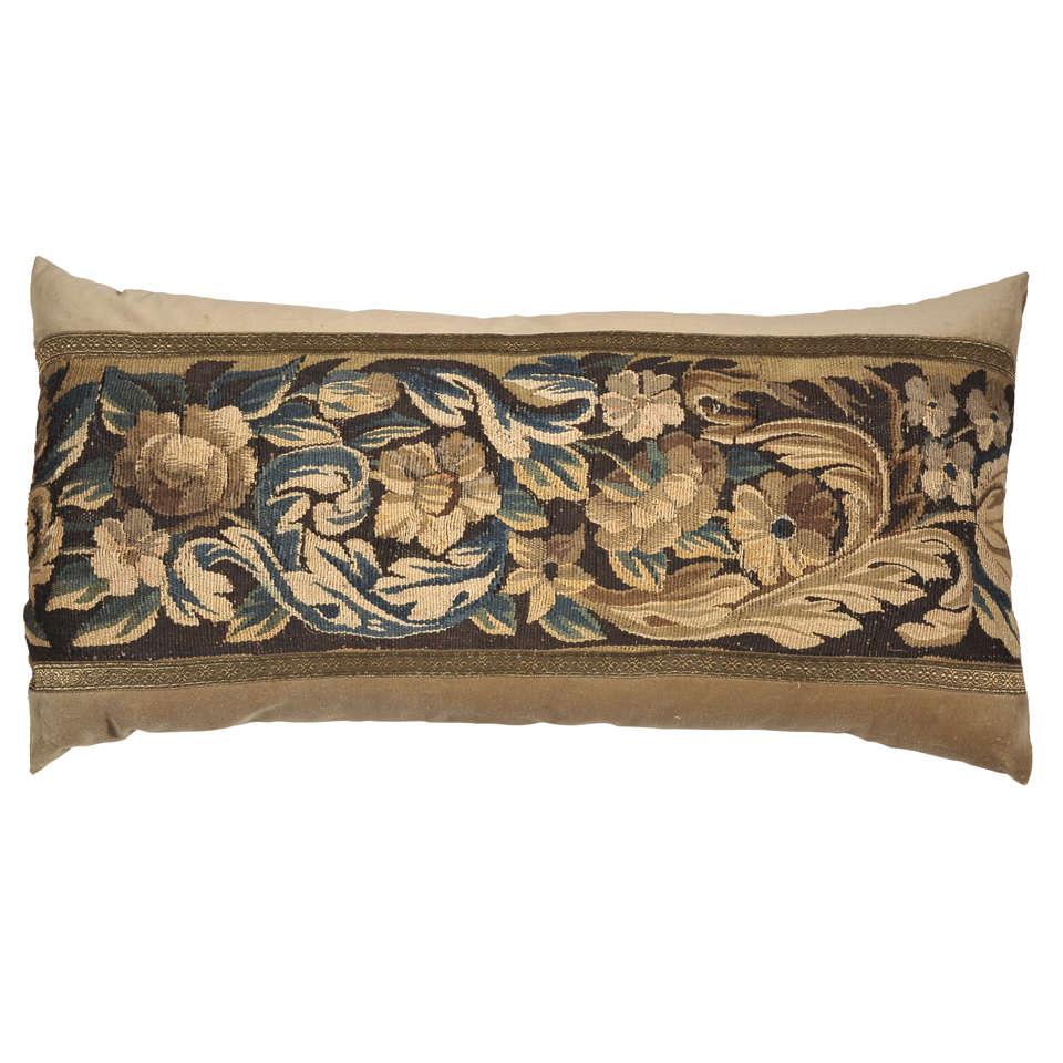 18th Century Tapestry Lumbar Pillow At 1stdibs