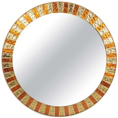 1960s Copper and Gold Mosaic Mirror