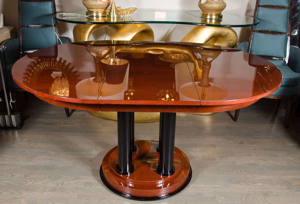 Art Deco Foyer Table : Elegant art deco four pedestal center hall table dining