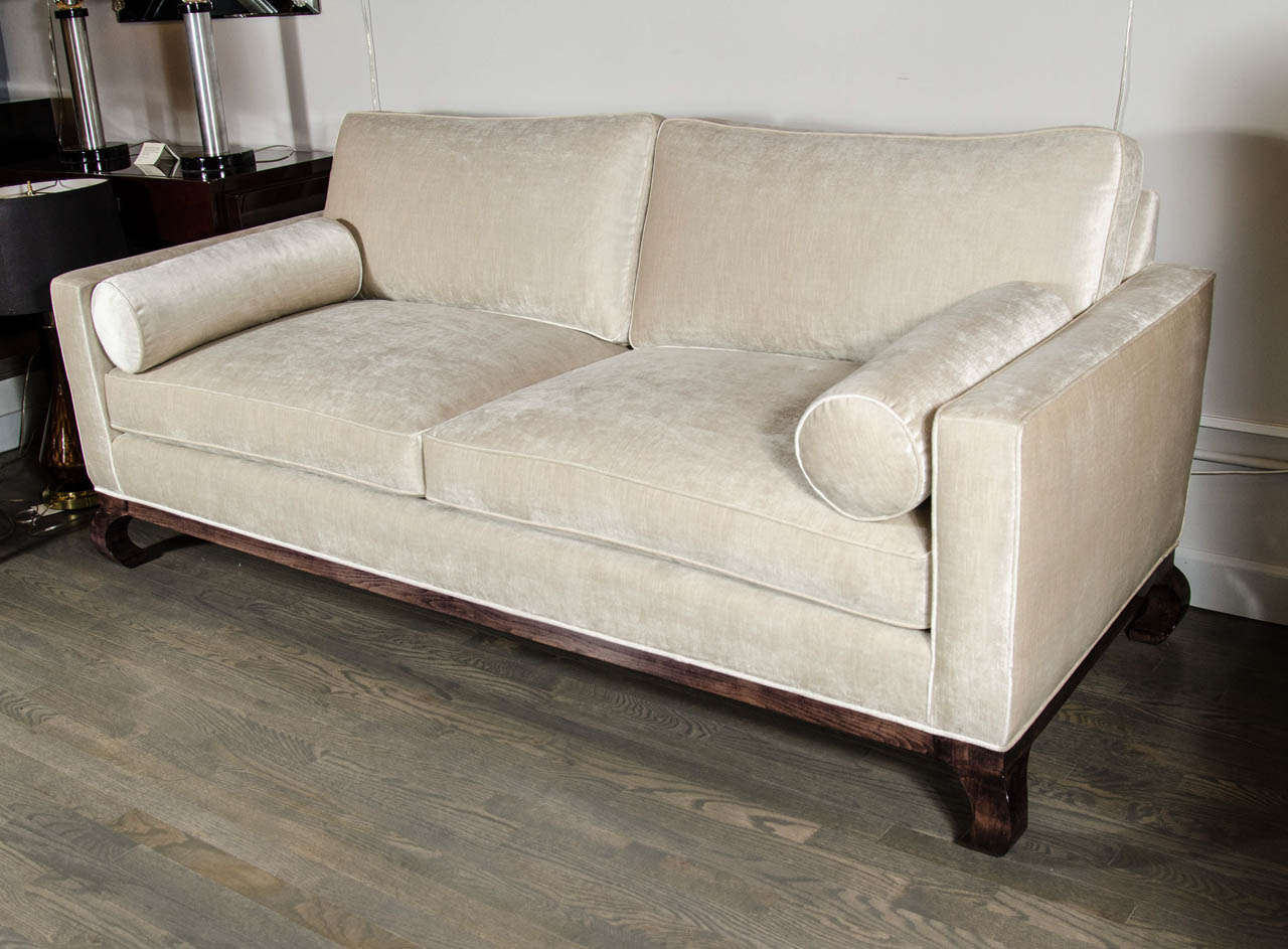 Sophisticated mid century modern asian inspired sofa at for Mid century modern furniture new york