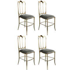 Fantastic Set of 4 High Back Chiavari Chairs