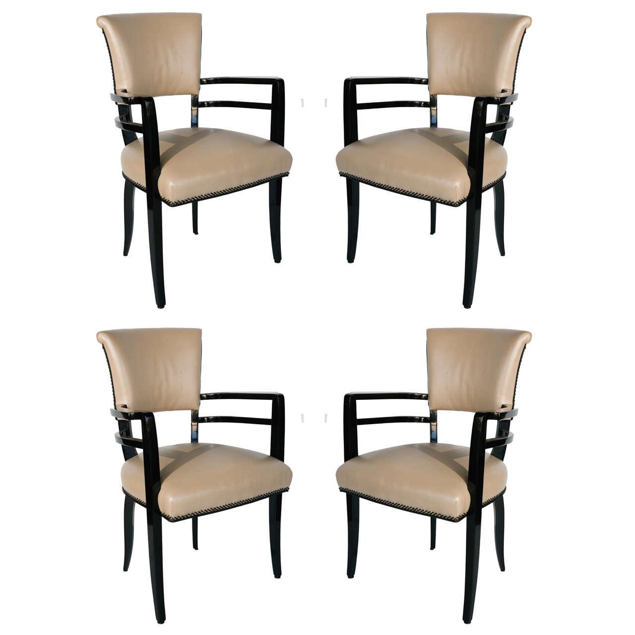 Outstanding Set of 4 Josef Hoffmann Chairs