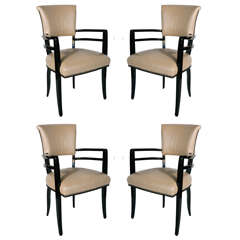 Outstanding Set of 4 Josef Hoffmann Chairs
