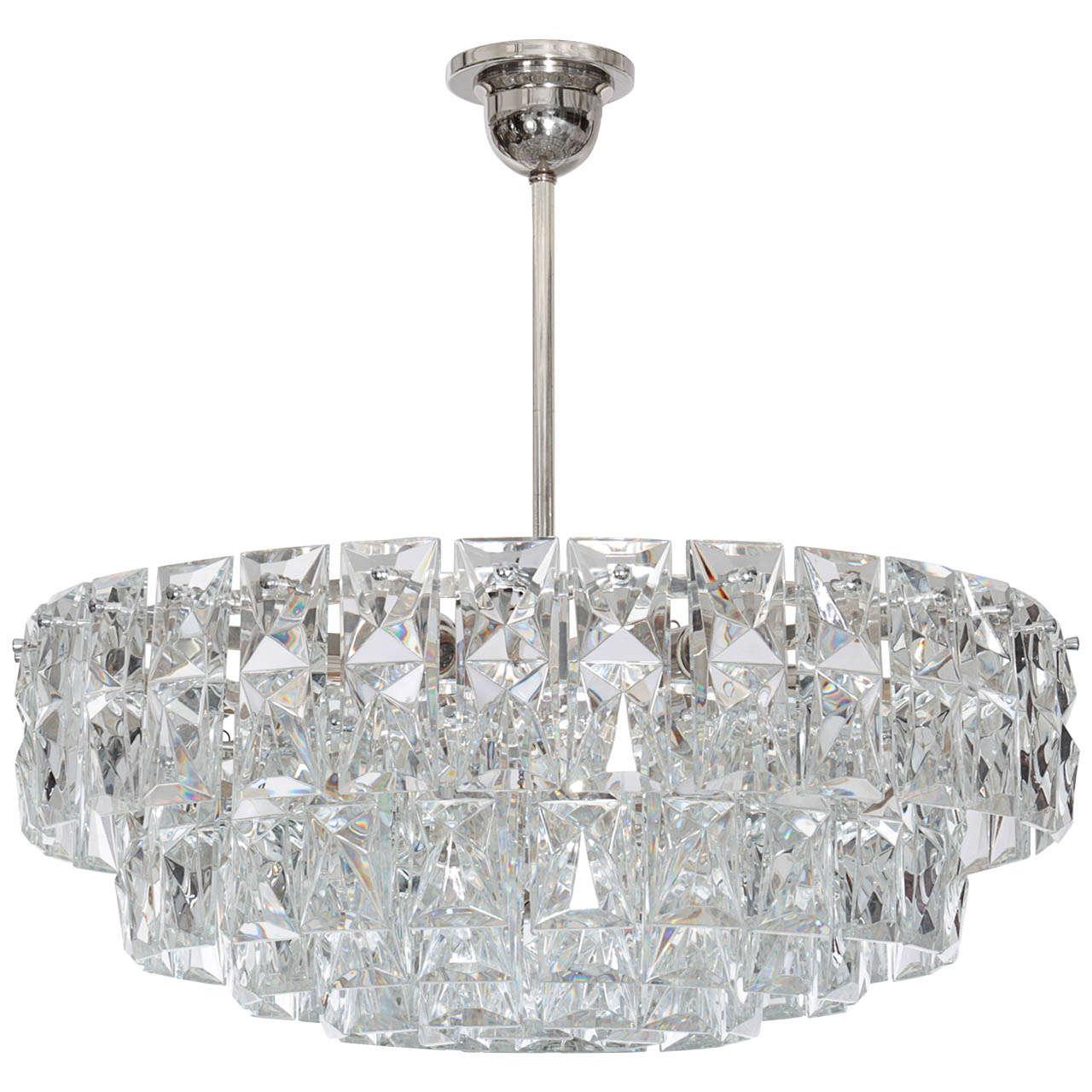 Rectangular Crystal Chandelier: Large Rectangular Crystal Prism Chandelier By Kinkeldey At