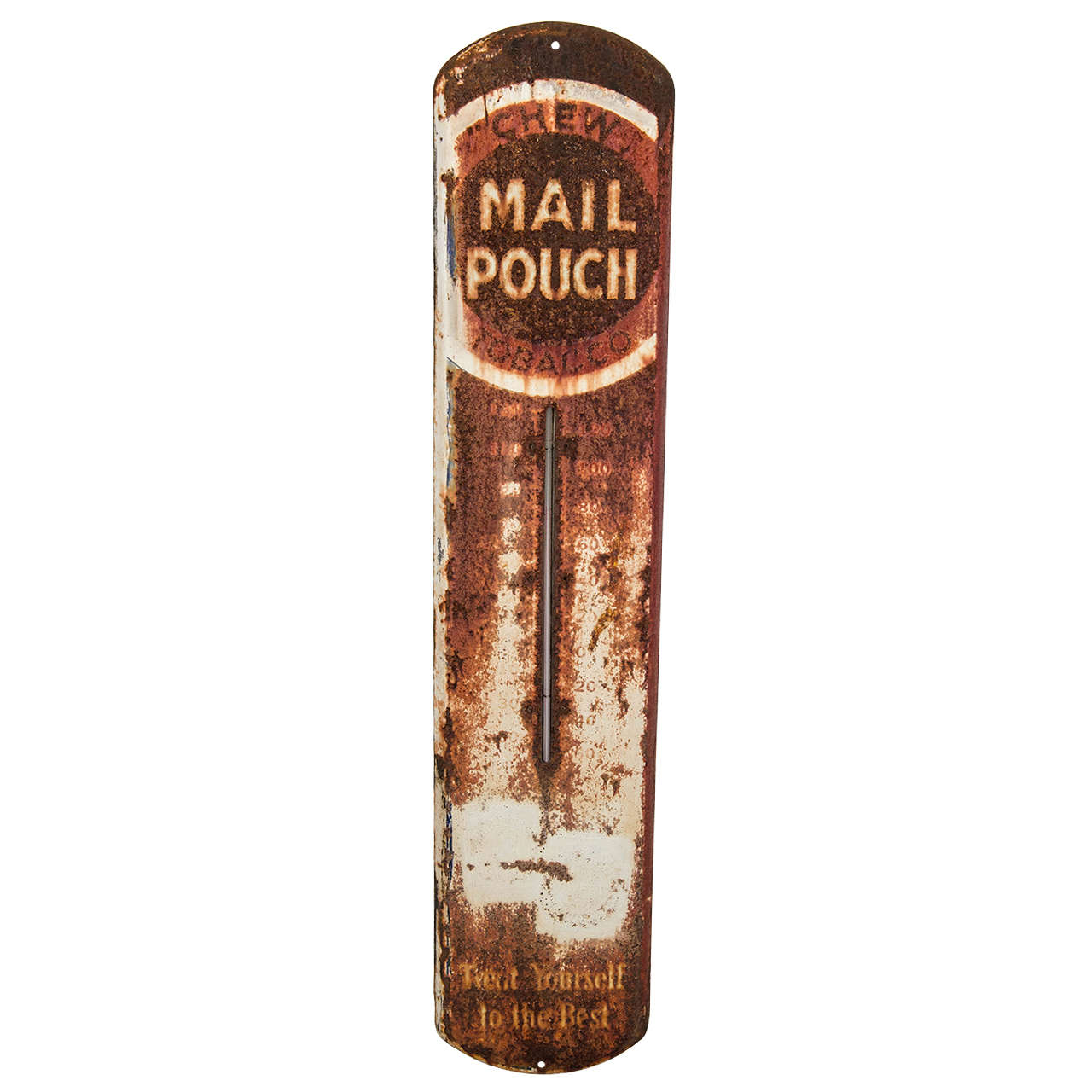 Weathered Mail Pouch Chewing Tobacco Sign at 1stdibs