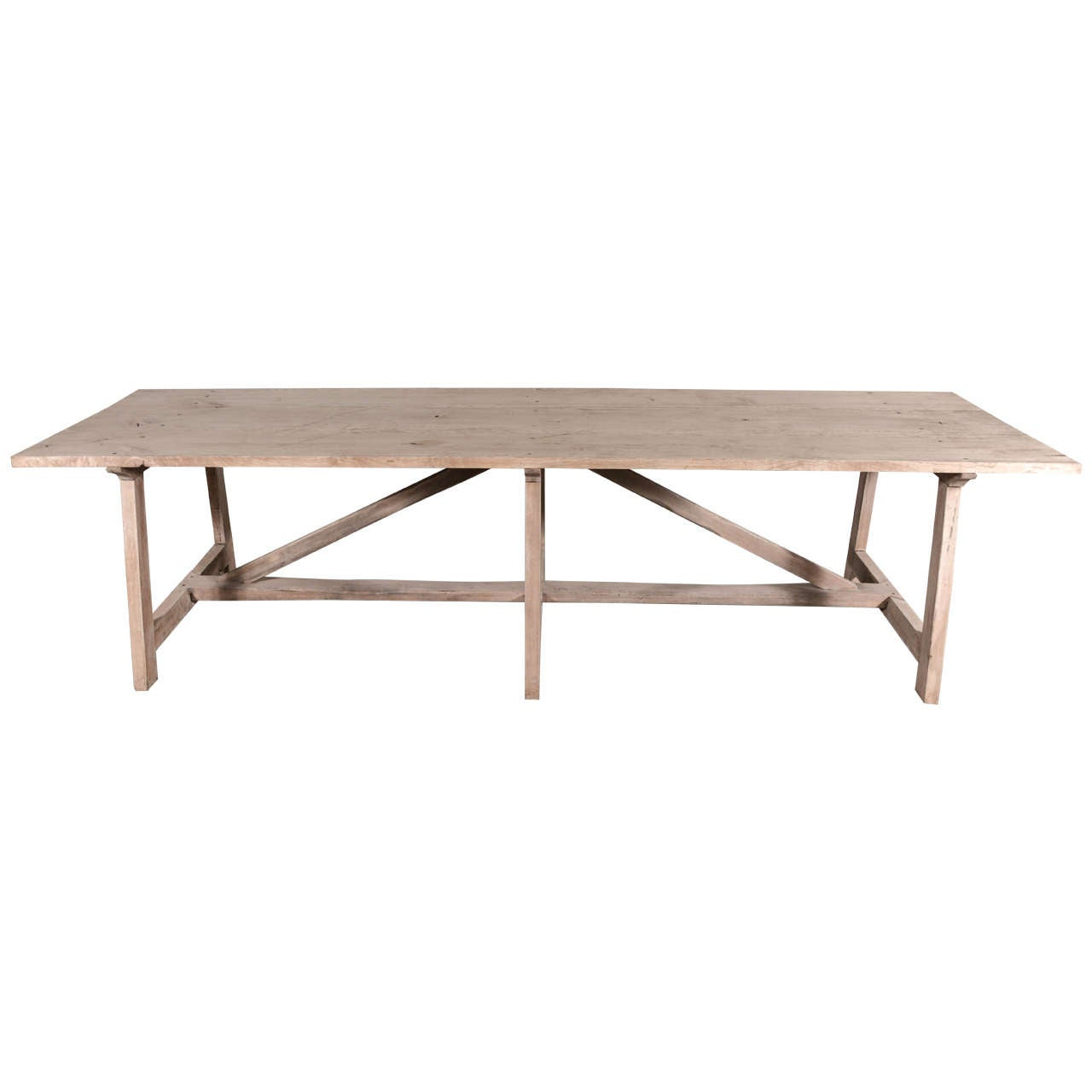 Spanish Bleached Walnut Dining Table At Stdibs - Bleached wood dining table