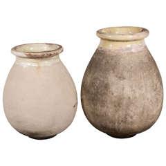 19th Century Ceramic Ligurian Italian Olive Oil Jars