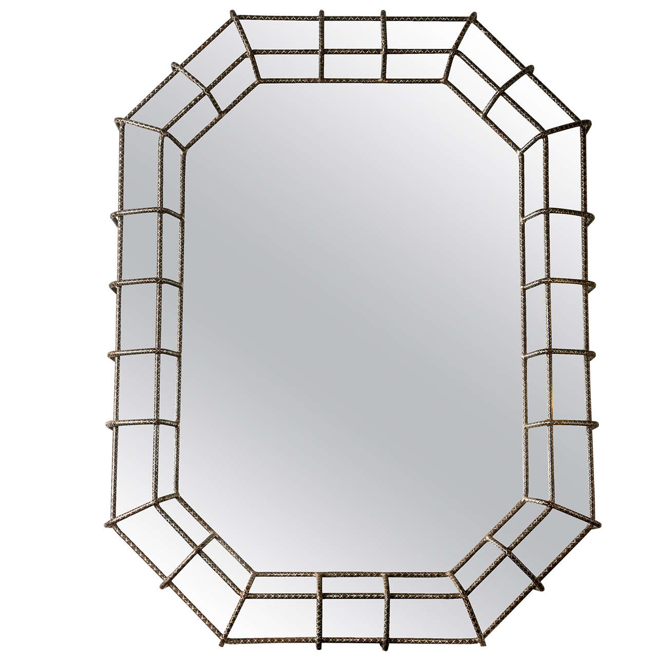 Mirror in Wire Metal Frame at 1stdibs