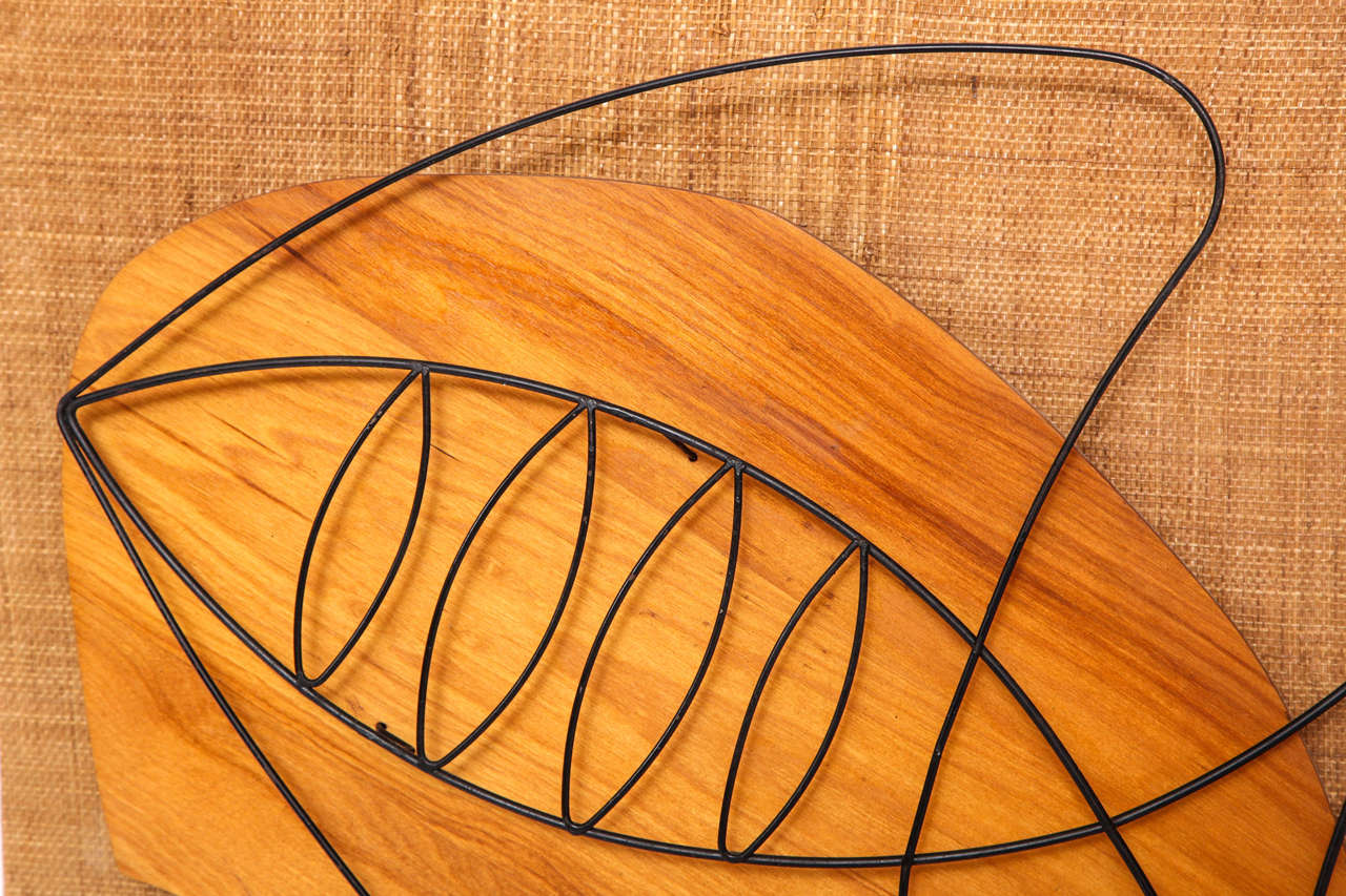 Mid-Century Modern Wall Sculpture, circa 1950 For Sale
