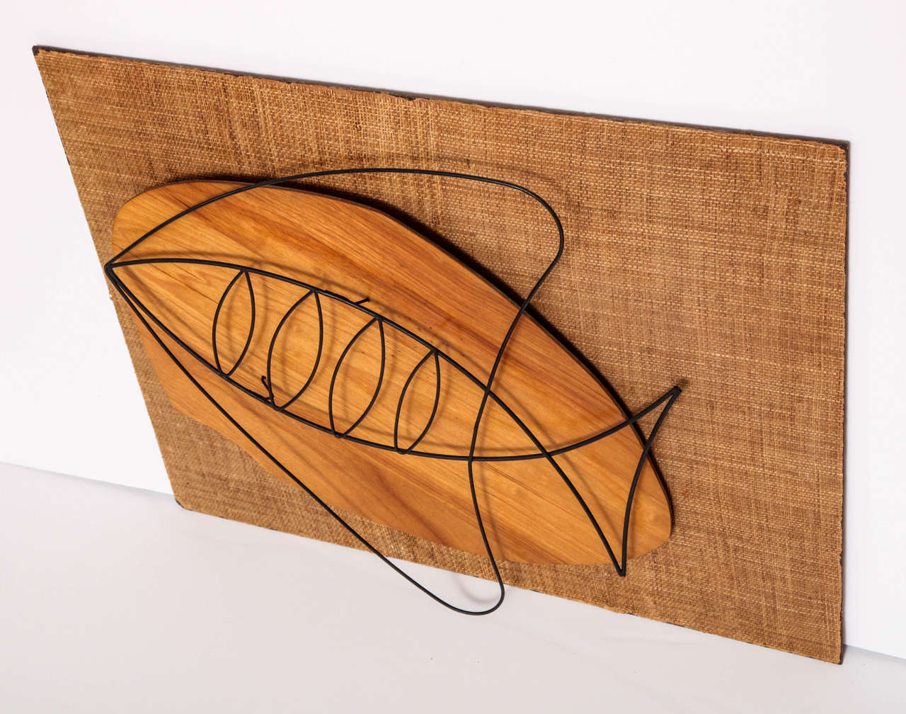 Hand-Crafted Wall Sculpture, circa 1950 For Sale