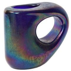 Anse Volante Art Glass Vase by Giorgio Ferro