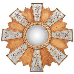 Roundel Gilt Wood Mirror