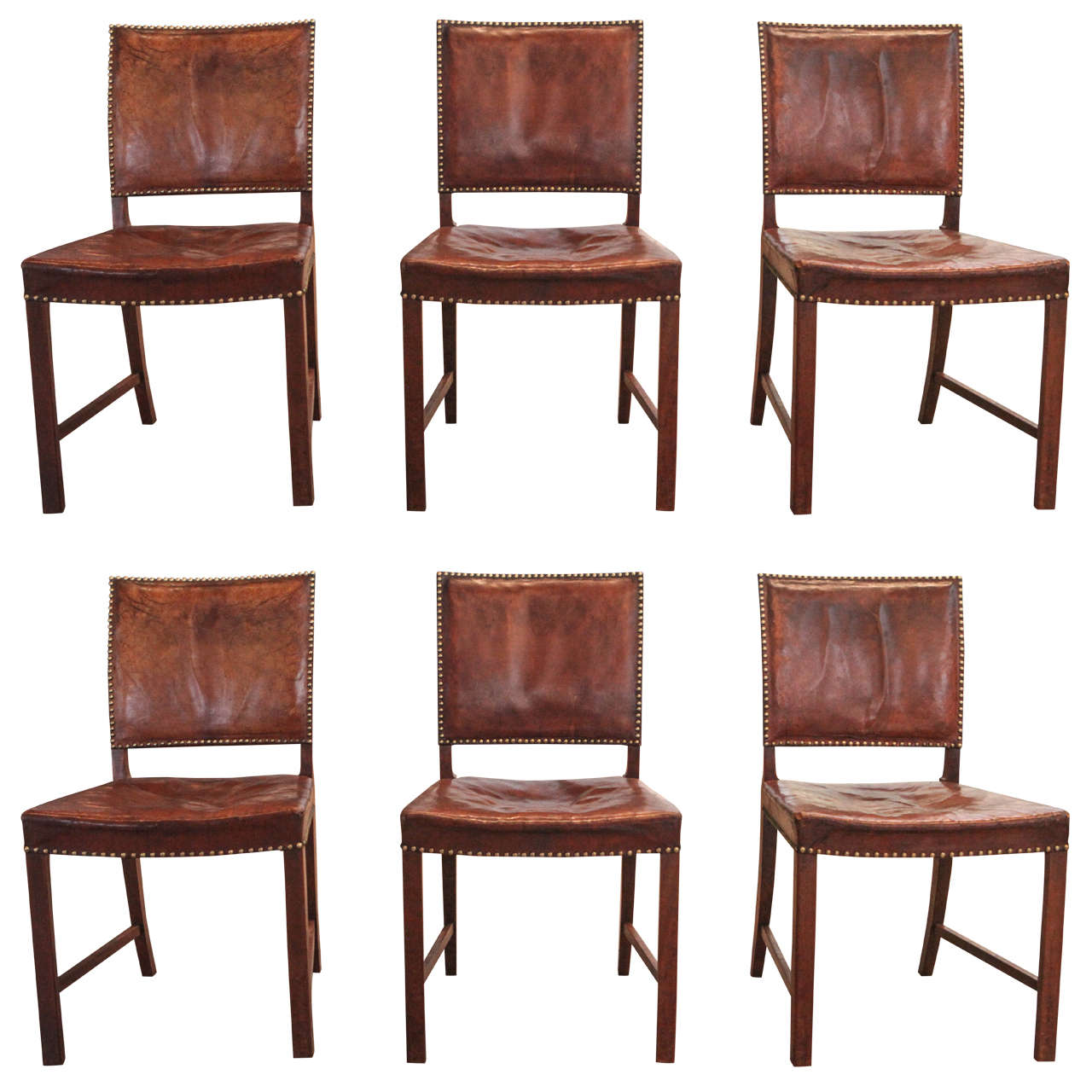 Sculpted rosewood danish dining chairs red modern furniture - Set Of Jacob Kjaer Dining Chairs Denmark 1934 At 1stdibs