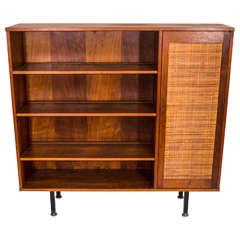 Handsome Walnut Bookcase by Lane