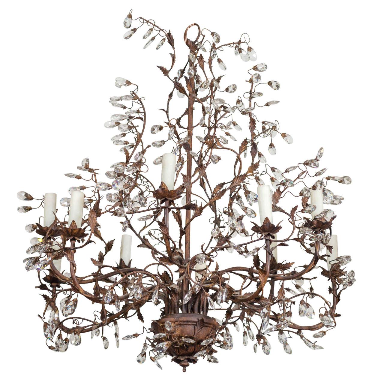 Whimsical ten light chandelier at 1stdibs whimsical ten light chandelier for sale mozeypictures Images