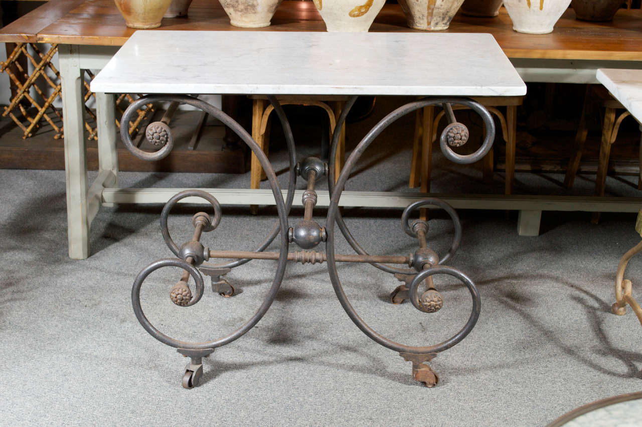 French Marble Top Butcher/Pastry Table 3