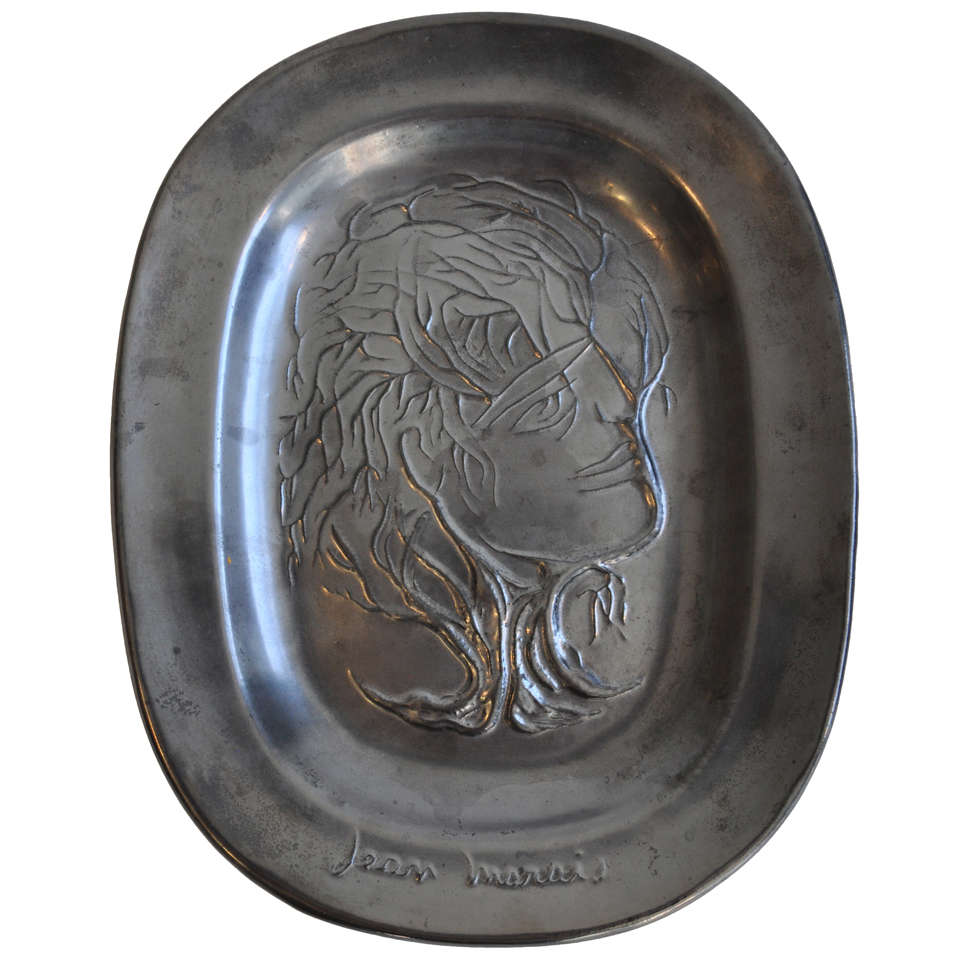 Ceramic plaque by Jean Marais 1