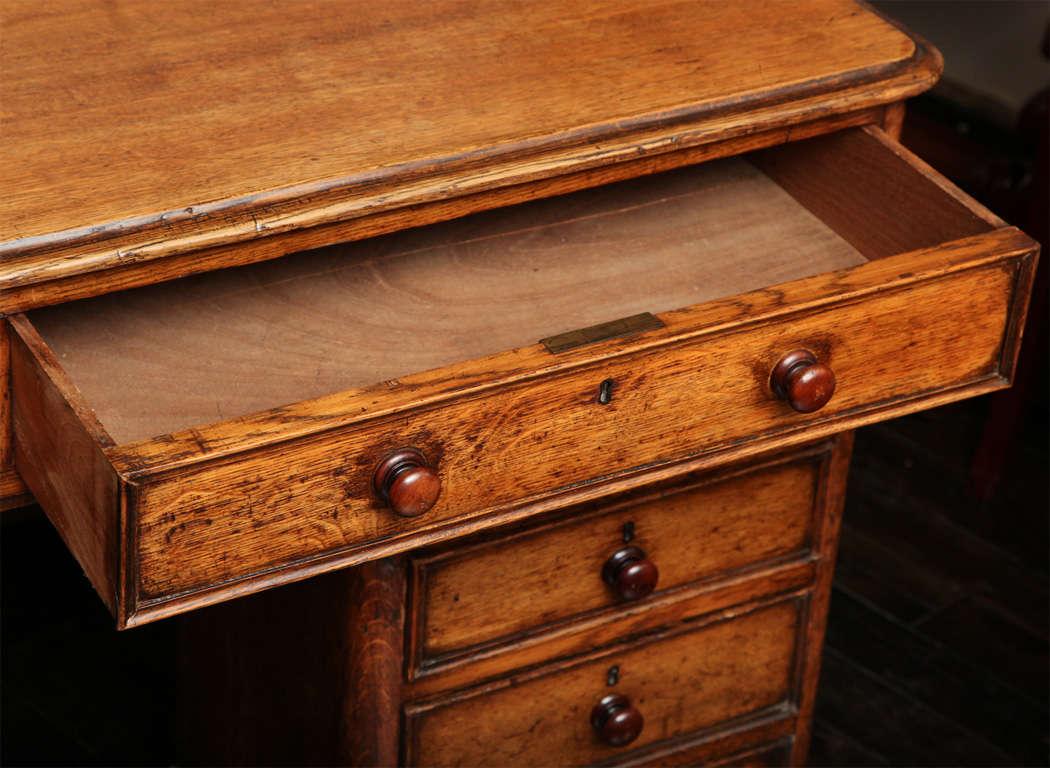 Unusual 19th Century Oak Partners Desk For Sale 1