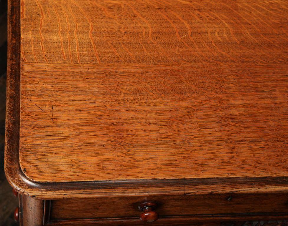 Unusual 19th Century Oak Partners Desk For Sale 3