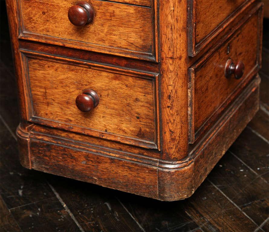 Unusual 19th Century Oak Partners Desk For Sale 4