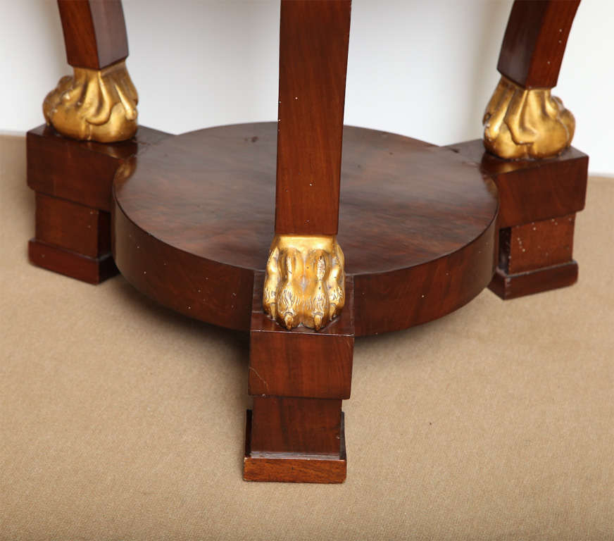 Gilt 19th Century French Centre Table For Sale