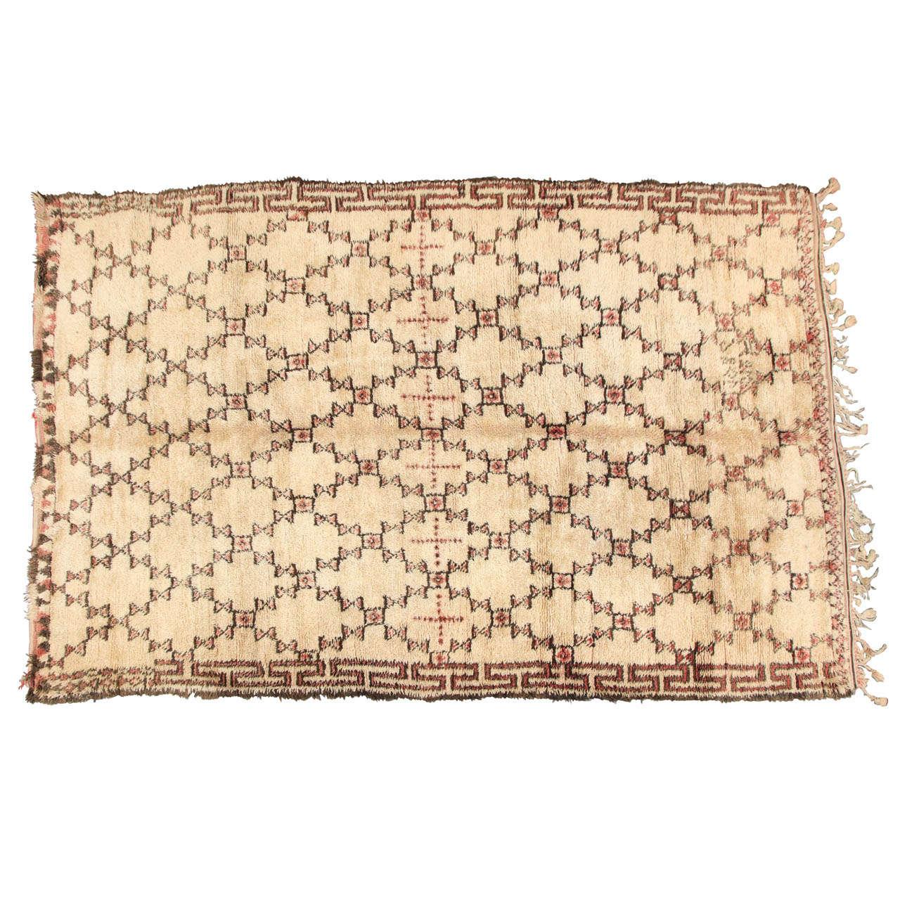 beni ourain moroccan rug at 1stdibs. Black Bedroom Furniture Sets. Home Design Ideas