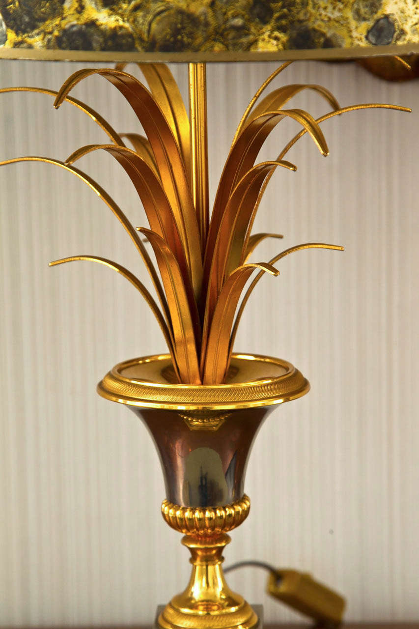 Late 20th Century Vase Roseaux Table Lamp For Sale
