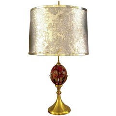 Bronze & Marble Table Lamp Attributed to Maison Charles