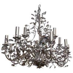Silver Metal Floral Design Chandelier