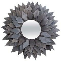 Monumental Zinc Flower Petal Mirror