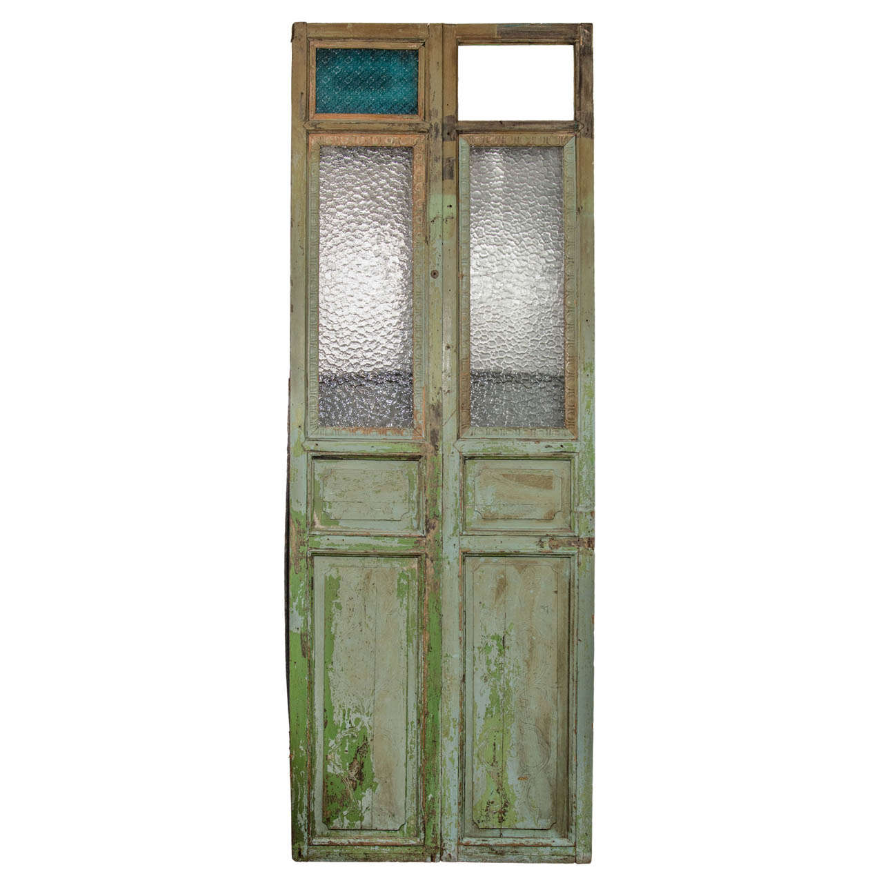 Egyptian Antique Green Doors at 1stdibs