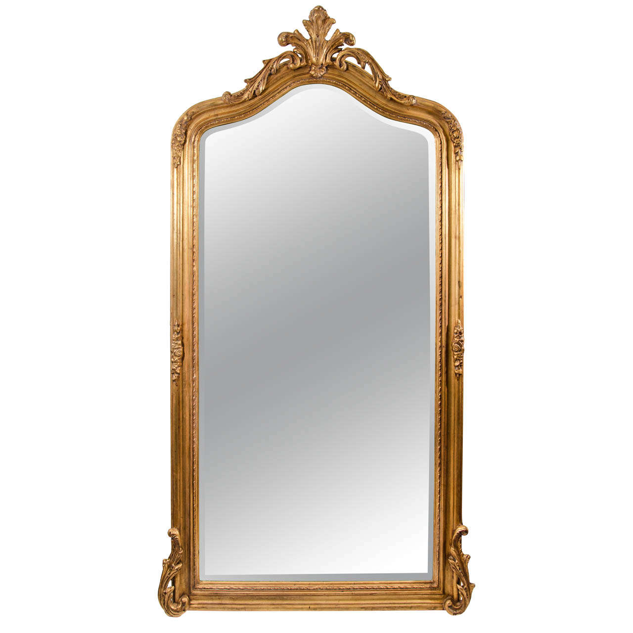 peruvian gilded french style mirror at 1stdibs