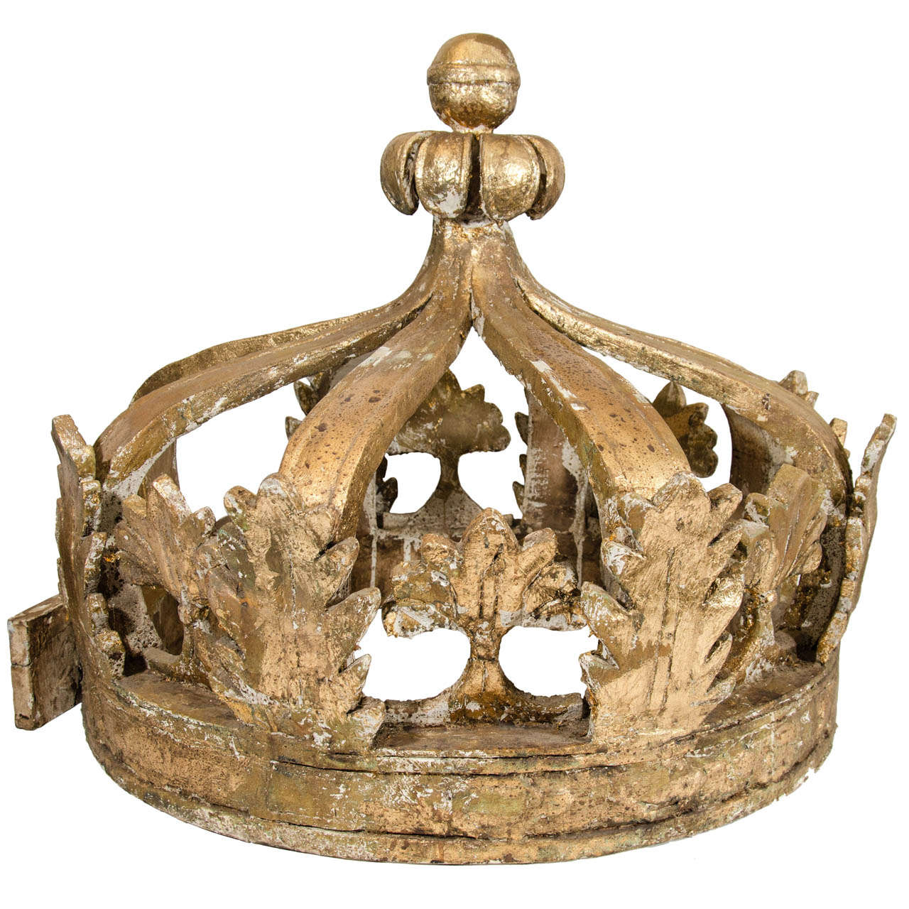 French Gilded Wooden Crown At 1stdibs