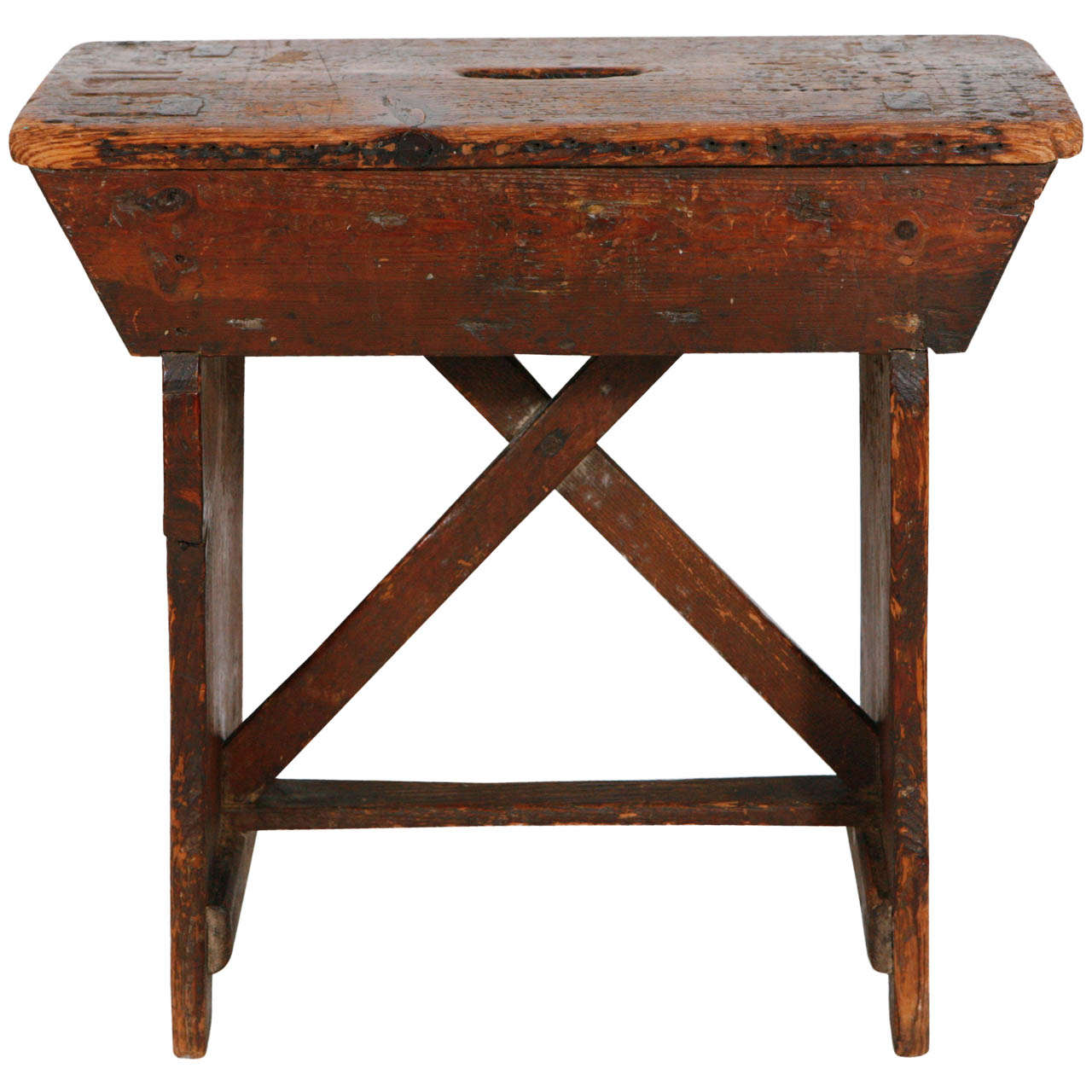 Primitive Pine Stool Small Bench At 1stdibs