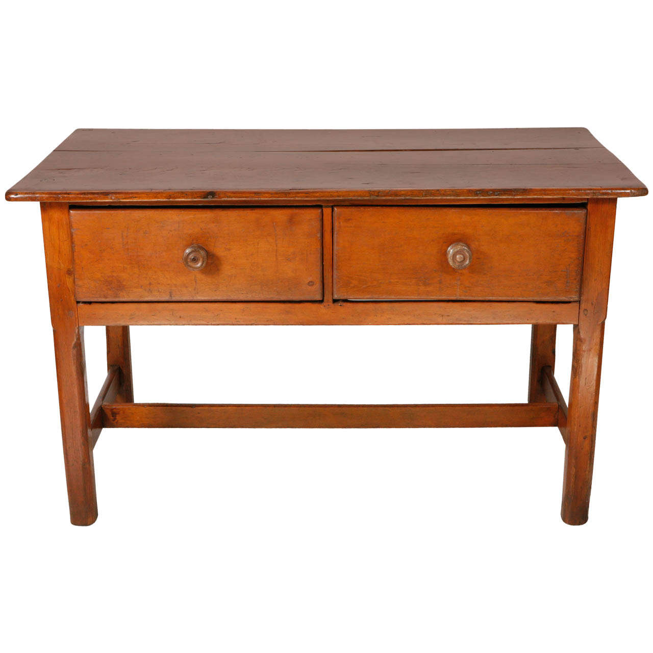 Marvelous photograph of Two Drawer Pine Table / Desk at 1stdibs with #B44F0F color and 1280x1280 pixels