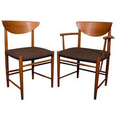 Set of 6 Hvidt Molgaard Teak Dining Chairs