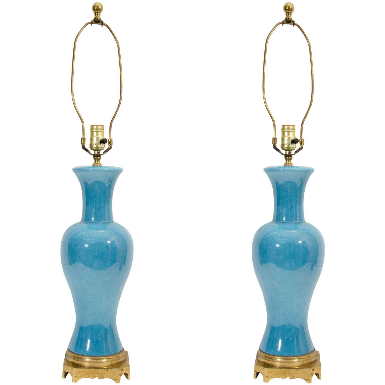 A Mid Century Pair Of Paul Hanson Table Lamps At 1stdibs
