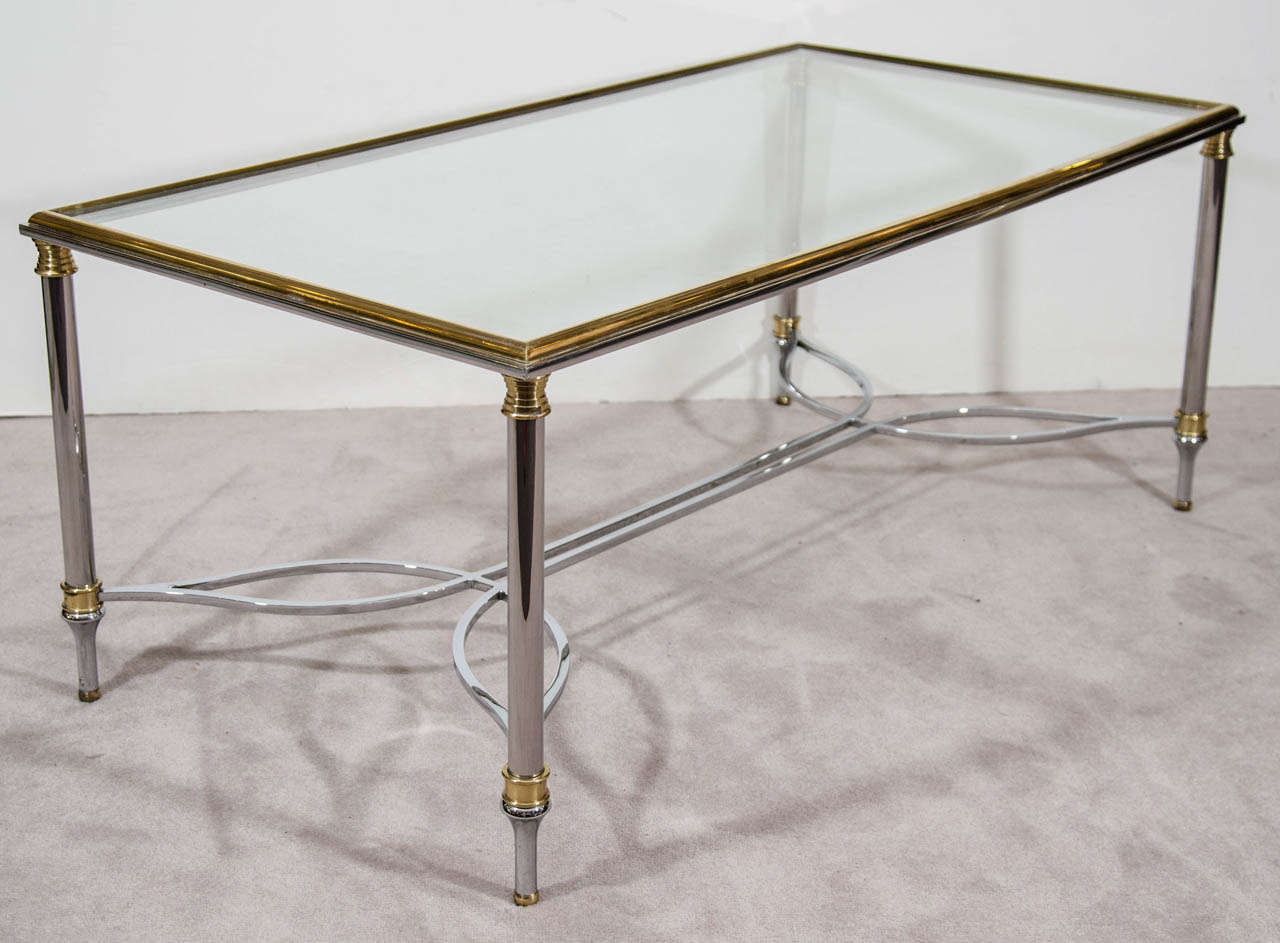 A Mid Century Maison Bagues Glass Top Coffee Or Cocktail Table At 1stdibs