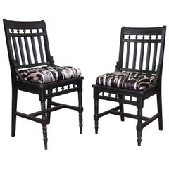 An Antique Set of His And Hers Eastlake Side Chairs