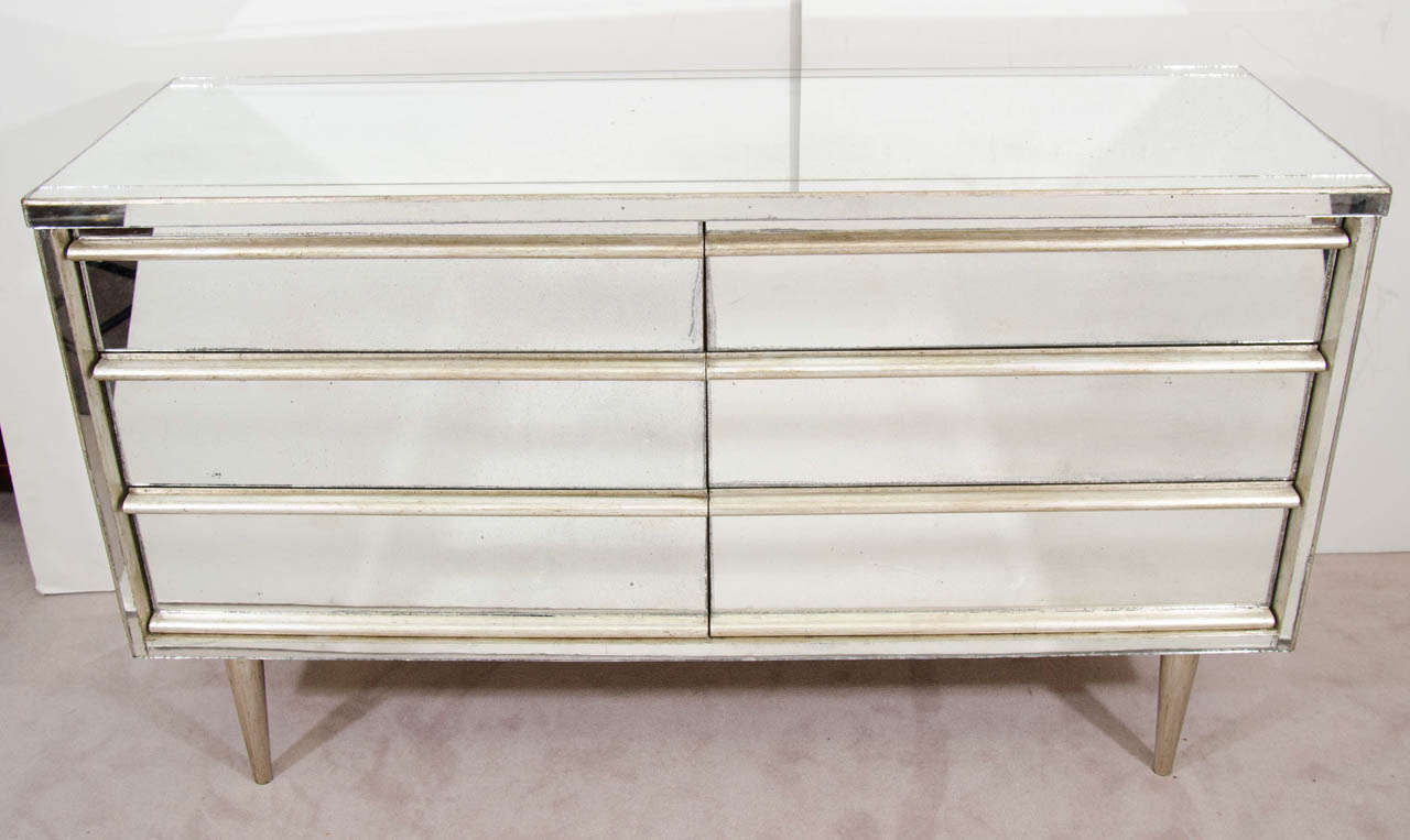 A Vintage Dresser By Bassett Furniture With Mirrored Surface 2