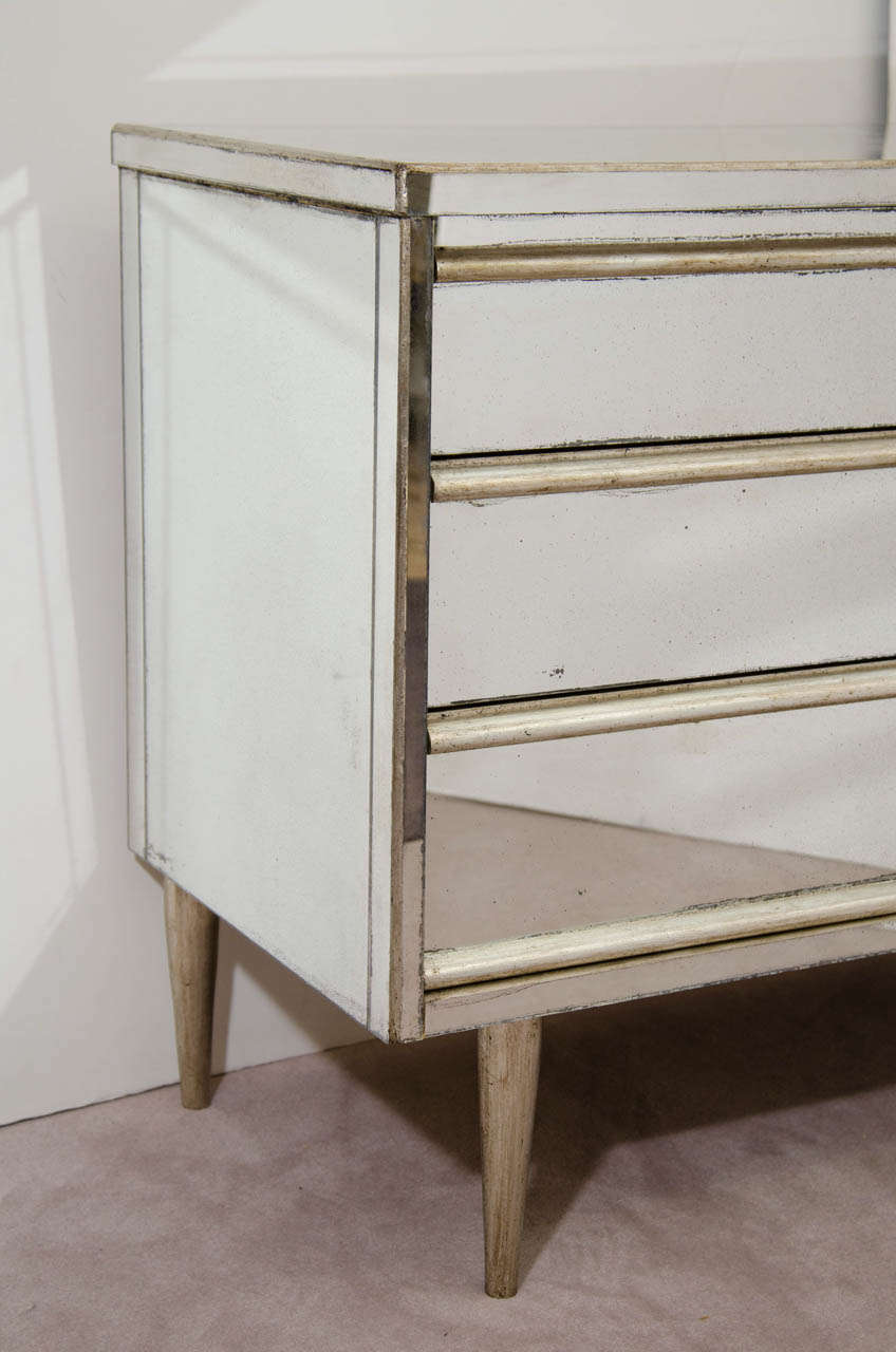 A Vintage Dresser By Bassett Furniture With Mirrored Surface At 1stdibs