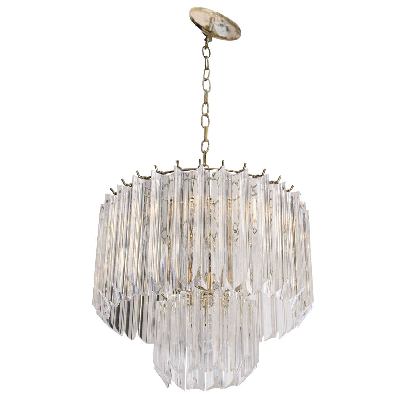 A 1970s Lucite Two Tiered Chandelier at 1stdibs