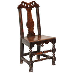 Welsh Queen Anne Folk Art Side Chair