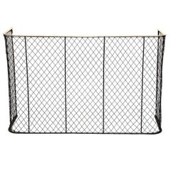 """Nursery Guard with Wire Mesh and Brass Rail - 44"""" Wide"""