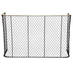 "Nursery Guard with Wire Mesh and Brass Rail - 44"" Wide"