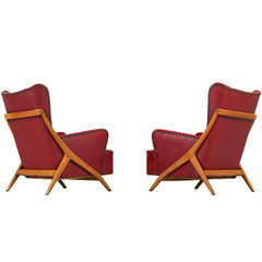 Set of Two Lounge Chairs by Mario Gottardi, Italy