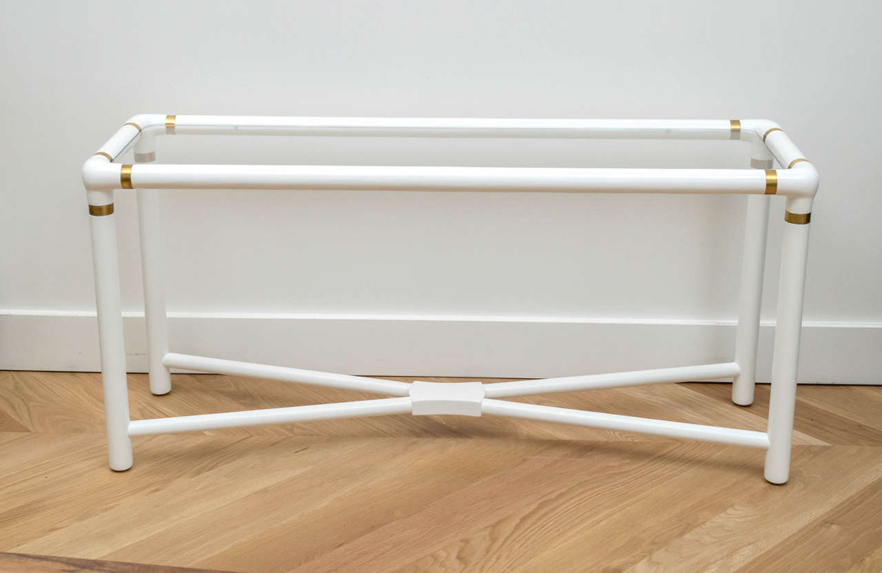 White Lacquered Console For Sale At 1stdibs
